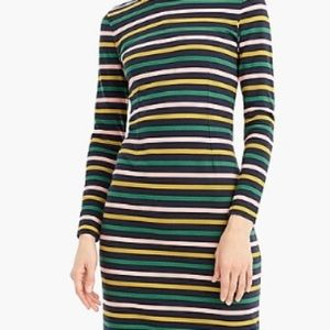 J crew midi stripe dress